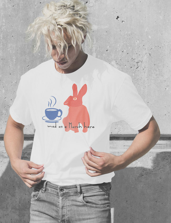 Doodle rabbit cool Tee shirt with graphic design